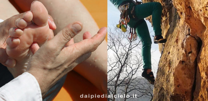 piedi e montagna, riflessologia plantare e climbing