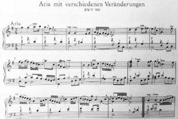Incipit delle variazioni Goldberg BWV 988